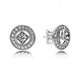 Pandora Jewelry Vintage Allure Stud Earrings-Clear CZ 290721cz