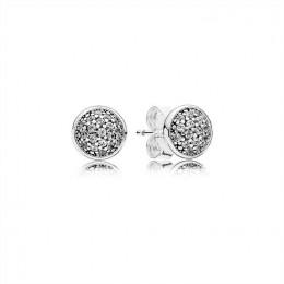 Pandora Jewelry Dazzling Droplets Stud Earrings-Clear CZ 290726CZ