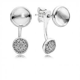 Pandora Jewelry Dazzling Poetic Droplets Drop Earrings-Clear CZ 290728CZ