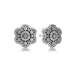 Pandora Jewelry Crystallised Floral Stud Earrings 290732CZ