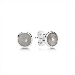 Pandora Jewelry June Droplets Stud Earrings-Grey Moonstone 290738MSG