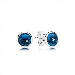 Pandora Jewelry December Droplets Stud Earrings-London Blue Crystal 290738NLB