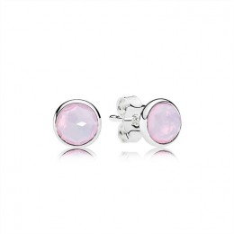 Pandora Jewelry October Droplets Stud Earrings-Opalescent Pink Crystal 290738NOP