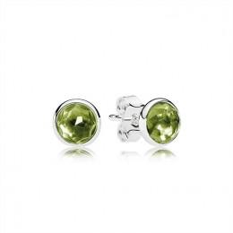 Pandora Jewelry August Droplets Stud Earrings-Peridot 290738PE
