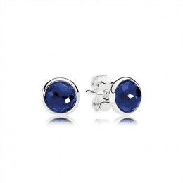 Pandora Jewelry September Droplets Stud Earrings-Synthetic Sapphire 290738SSA