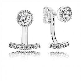 Pandora Jewelry Abstract Elegance Drop Earrings-Clear CZ 290743CZ