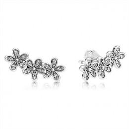 Pandora Jewelry Dazzling Daisies Stud Earrings-Clear CZ 290744CZ
