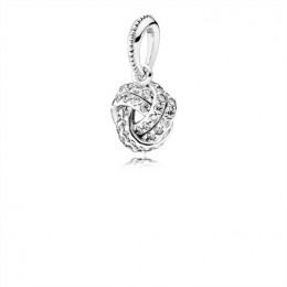 Pandora Jewelry Sparkling Love Knot Pendant Charm 390385CZ