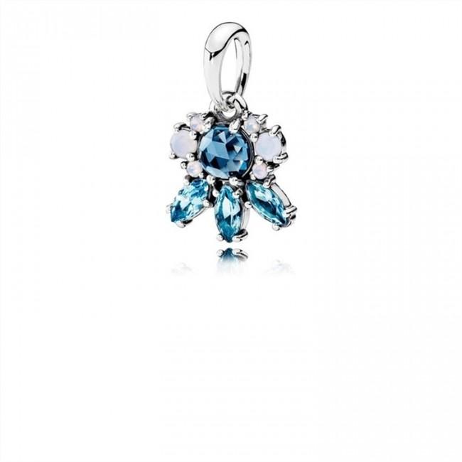 Pandora Jewelry Patterns of Frost Pendant-Multi-Colored Crystal 390391NMBMX