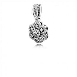 Pandora Jewelry Crystallised Floral Necklace Pendant 390392CZ
