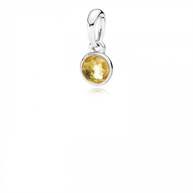Pandora Jewelry November Droplet Pendant-Citrine 390396CI