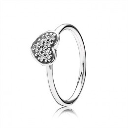 Pandora Jewelry Jewelry Pave Heart Ring 190890CZ