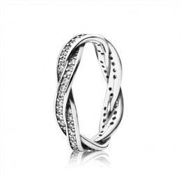 Pandora Jewelry Twist Of Fate Stackable Ring-Clear CZ 190892CZ
