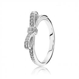 Pandora Jewelry Sparkling Bow Ring-Clear CZ 190906CZ
