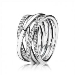 Pandora Jewelry Jewelry Entwined Ring-Clear CZ 190919CZ