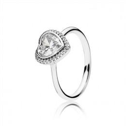 Pandora Jewelry Sparkling Love Heart Ring-Clear CZ 190929CZ