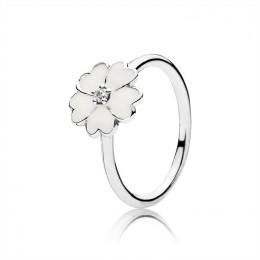 Pandora Jewelry Primrose Stackable Ring-White Enamel 190931en12