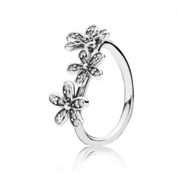 Pandora Jewelry Dazzling Daisies Stackable Ring-Clear CZ 190933CZ