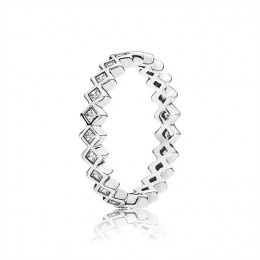 Pandora Jewelry Alluring Princess Ring-Clear CZ 190944CZ