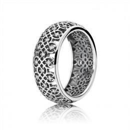 Pandora Jewelry Intricate Lattice Ring-Clear CZ 190955CZ