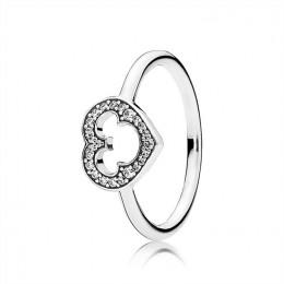 Pandora Jewelry Disney-Mickey Silhouette Ring-Clear CZ 190957CZ