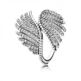 Pandora Jewelry Majestic Feathers Ring-Clear CZ 190960CZ