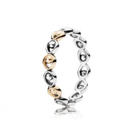 Pandora Jewelry Peacock Glory Stackable Gold & Silver Ring 190961