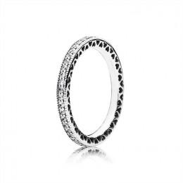 Pandora Jewelry Hearts of Pandora Jewelry Ring-Clear CZ 190963CZ