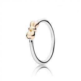 Pandora Jewelry Petite Bow Pandora Jewelry Silver & Gold Ring 190972