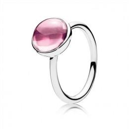 Pandora Jewelry Poetic Droplet Ring-Pink CZ 190982PCZ