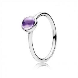 Pandora Jewelry Poetic Droplet Ring-Purple CZ 190983ACZ