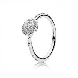 Pandora Jewelry Radiant Elegance Ring-Clear CZ 190986CZ