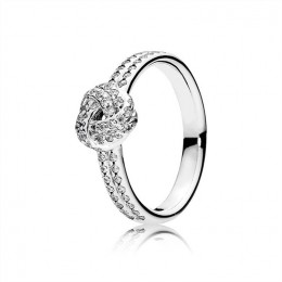 Pandora Jewelry Sparkling Love Knot Ring-Clear CZ 190997CZ