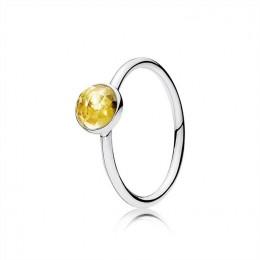 Pandora Jewelry November Droplet Ring-Citrine 191012CI