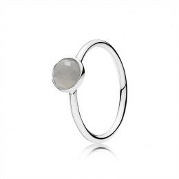 Pandora Jewelry June Droplet Ring-Grey Moonstone 191012MSG