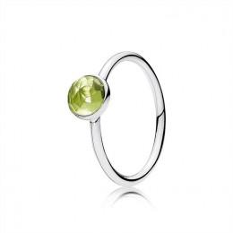 Pandora Jewelry August Droplet Ring-Peridot 191012PE