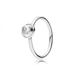 Pandora Jewelry April Droplet Ring-Rock Crystal 191012RC