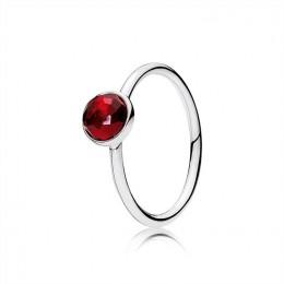 Pandora Jewelry July Droplet Ring-Synthetic Ruby 191012SRU