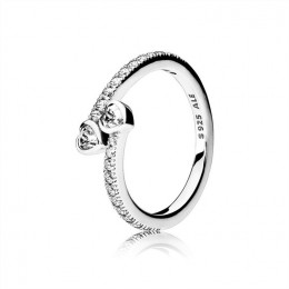 Pandora Jewelry Forever Hearts Ring-Clear CZ 191023CZ