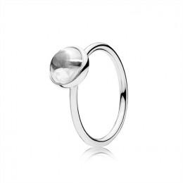 Pandora Jewelry Poetic Droplet Ring-Clear CZ 191027CZ