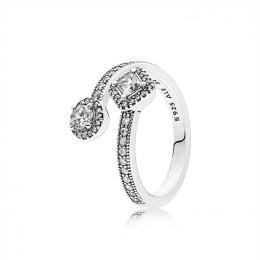 Pandora Jewelry Abstract Elegance Ring-Clear CZ 191031CZ