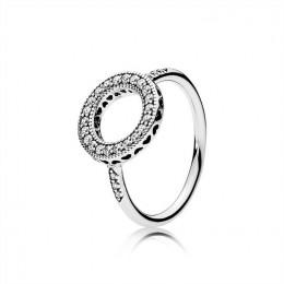 Pandora Jewelry Hearts of Pandora Jewelry Halo Ring-Clear CZ 191039CZ